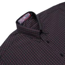 Camisa Manga Curta Masculina Rodeo Western Xadrez Preto 24692