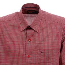 Camisa Manga Curta Masculina Vermelha Xadrez Fast Back 29457