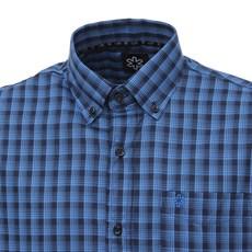 Camisa Manga Curta Xadrez Azul Masculina Tuff 27930