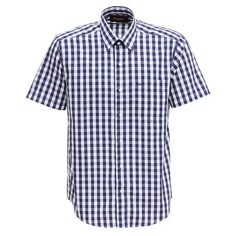 Camisa Manga Curta Xadrez Masculina Azul Fast Back 29453