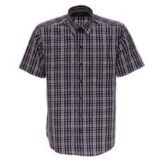 Camisa Manga Curta Xadrez Preto Fast Back Masculina 25905