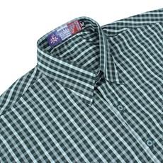Camisa Manga Curta Xadrez Verde Rodeo Western Masculina 23323
