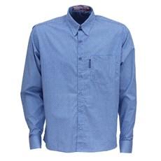 Camisa Manga Longa Azul Estampada Masculina Rodeo Western 26363