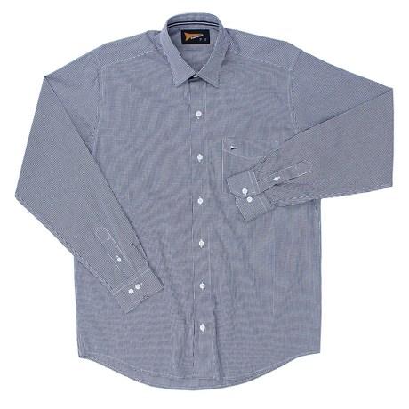 Camisa Manga Longa Fast Back Xadrez Azul Masculina 23141