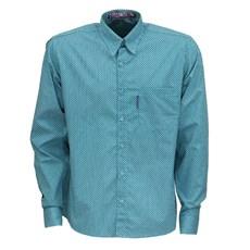 Camisa Manga Longa Masculina Verde Estampada Rodeo Western 26362