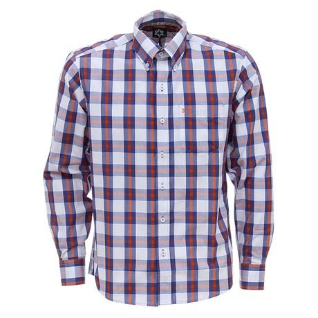 Camisa Manga Longa Masculina Xadrez Azul Tuff 27472