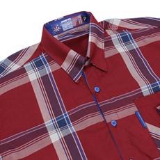 Camisa Manga Longa Masculina Xadrez Vermelho Rodeo Western 22628