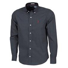 Camisa Manga Longa Preta Estampada Masculina Austin Western 25000