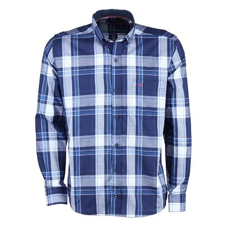 Camisa Manga Longa Smith Brothers Masculina Xadrez Azul 25596