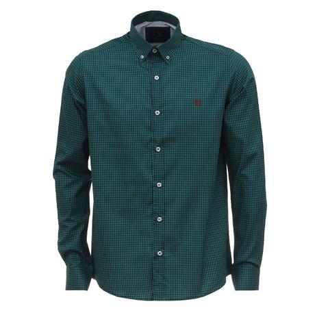 Camisa Manga Longa TXC Xadrez Masculina Verde 26571