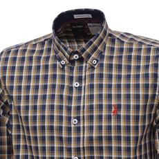 Camisa Manga Longa Xadrez Laranja Masculina Austin Western 27275