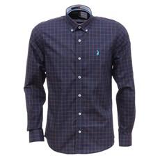 Camisa Masculina Azul Marinho Xadrez Manga Longa Austin Western 29198