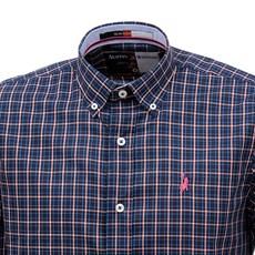 Camisa Masculina Azul Marinho Xadrez Manga Longa Austin Western 29199