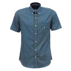 Camisa Masculina Azul Xadrez Manga Curta Austin Western 29203