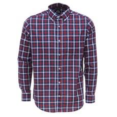 Camisa Masculina Azul Xadrez Manga LongaTuff 27467