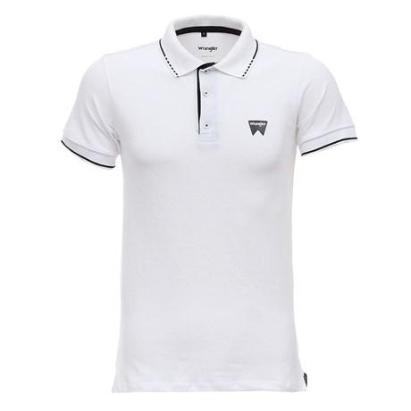 Camisa Masculina Gola Polo Branca Original Wrangler 28924