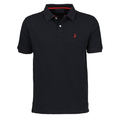 Camisa Masculina Gola Polo Preta Austin Western 24998