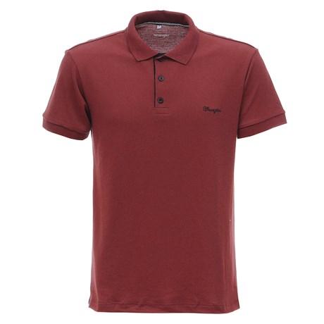 Camisa Masculina Gola Polo Vinho Original Wrangler 28925