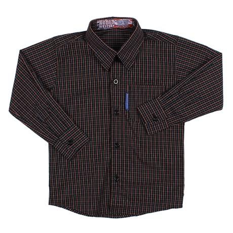 Camisa Masculina infantil Xadrez Preta Rodeo Western 25725