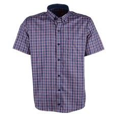 Camisa Masculina Manga Curta Azul Xadrez Smith Brothers 25590