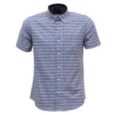 Camisa Masculina Manga Curta Xadrez Azul Austin Western 29806