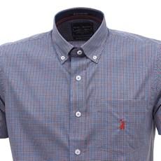 Camisa Masculina Manga Curta Xadrez Azul Austin Western 29808