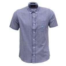 Camisa Masculina Manga Curta Xadrez Azul Austin Western 29813