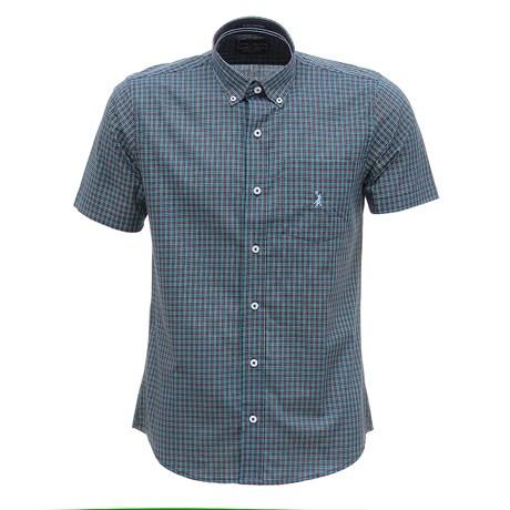 Camisa Masculina Manga Curta Xadrez Verde Austin Western 29811