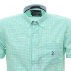 Camisa Masculina Manga Curta Xadrez Verde Austin Western 30076