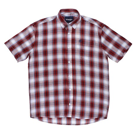 Camisa Masculina Manga Curta Xadrez Vermelho Original Wrangler 23988