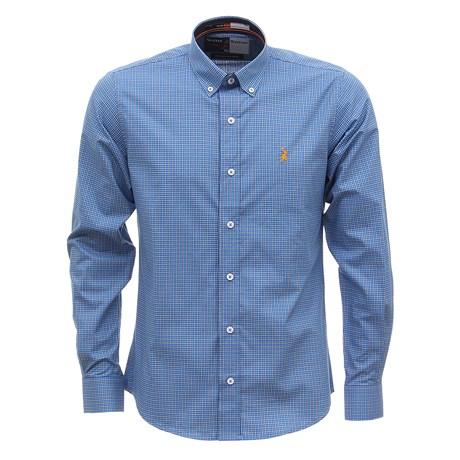 Camisa Masculina Manga Longa Xadrez Azul Austin Western 29801