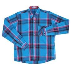 Camisa Masculina Manga Longa Xadrez Azul Rodeo Western 22629