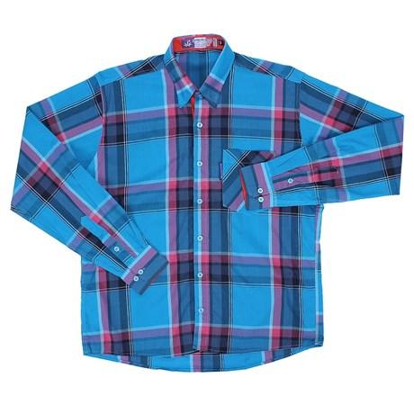 Camisa Masculina Manga Longa Xadrez Azul Rodeo Western 22629 - Rodeo ... a0f5517713573