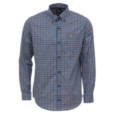 Camisa Masculina Manga Longa Xadrez Azul Tuff 27972