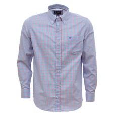 Camisa Masculina Manga Longa Xadrez Azul Tuff 30017