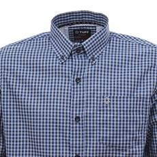 Camisa Masculina Manga Longa Xadrez Azul Tuff 30018