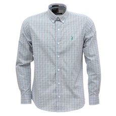 Camisa Masculina Manga Longa Xadrez Verde Austin Western 29805