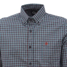 Camisa Masculina Manga Longa Xadrez Verde Tuff 27465