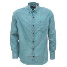 Camisa Masculina Manga Longa Xadrez Verde Tuff 30016