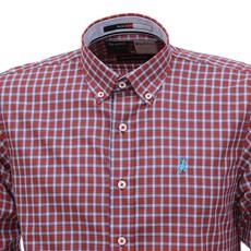 Camisa Masculina Manga Longa Xadrez Vermelho Austin Werstern 28442