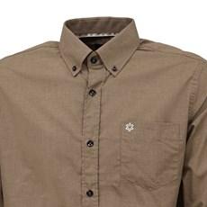 Camisa Masculina Marrom Manga Longa Tuff 27461