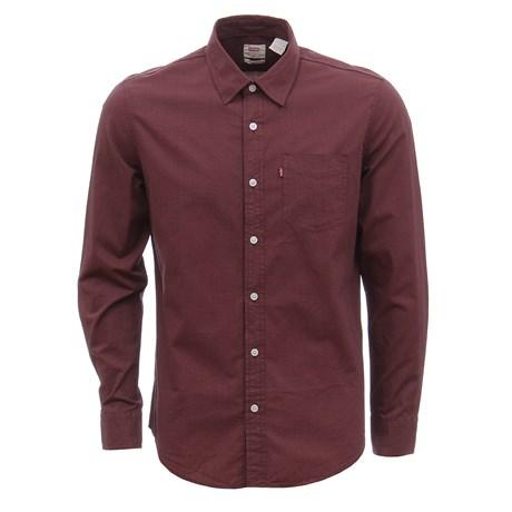 Camisa Masculina Vinho Manga Longa com Bolso Levi's' 30171