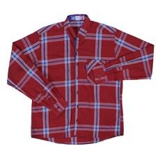 Camisa Masculina Vinho Xadrez Manga Longa Rodeo Western 22616