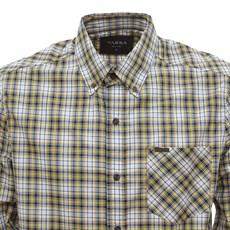 Camisa Masculina Xadrez Amarela Manga Longa Tassa 29932