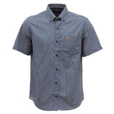 Camisa Masculina Xadrez Azul Manga Curta Tuff 29699