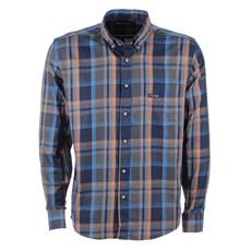 Camisa Masculina Xadrez Azul Manga Longa Original Gringa's 25677