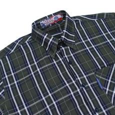Camisa Masculina Xadrez Manga Curta Verde Rodeo Western 22613