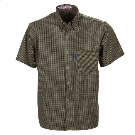 Camisa Masculina Xadrez Manga Curta Verde Rodeo Western 25719