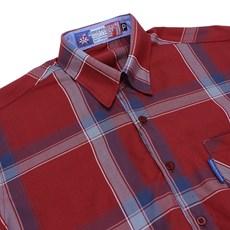 Camisa Masculina Xadrez Manga Longa Vermelha Rodeo Western 22619