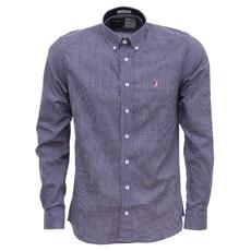 Camisa Masculina Xadrez Roxo Manga Longa Austin Western 27285